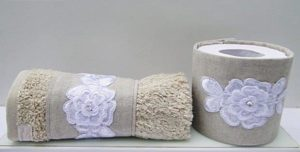 Kit lavabo porta papel e toalha
