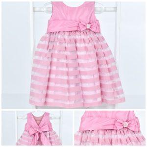 Vestido Listrado rosa2