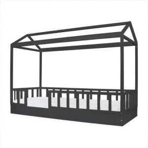 cama casinha preto